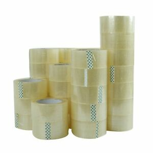 36 Rolls 2 0 X 110 Yards 330 Ft Box Carton Sealing Packing Package Tape Clear