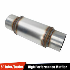 5 Inlet Outlet 18 Overall Straight Through High Performance Muffler Silencer