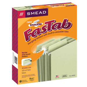 Smead Erasable Fastab Hanging Folders