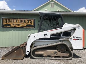 2015 Bobcat T450 Track Skid Steer Loader 61 Hp 1410 Hours Low Cost Shipping