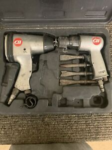 Campbell Hausfeld 2pc Set 1 2 Impact Wrench Tl1002 And Air Hammer Tl1003