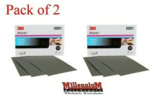 3m 2021 P1000 Wet Or Dry Sandpaper 5 5 x 9 02021 100 Sheets 2 Pack