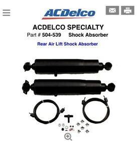 1x Rr Air Adjustable Shock Absorber Acdelco Specialty 504 539