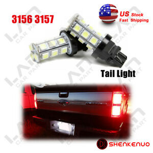 2pcs 3157 3057 3457 18smd Red Led Stop Brake Light Bulbs For Chevy Gmc 24h
