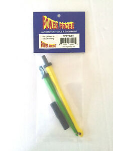 Power Probe Wire Piercing Probe Test Lead Set Yellow Green Adapter
