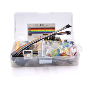 Electronics Component Basic Starter Kit With 830 Tie points Breadboard Cable