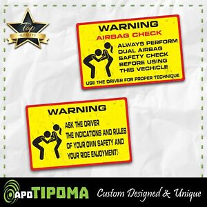 Airbag Rules Sticker Decal Funny Car Truck 4x4 Offroad 4wd Dirt Jdm Race Vw Mud