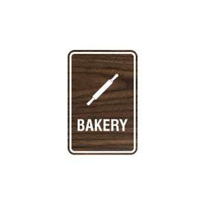 Signs Bylita Portrait Round Bakery Sign With Adhesive Tape walnut Large 6x8