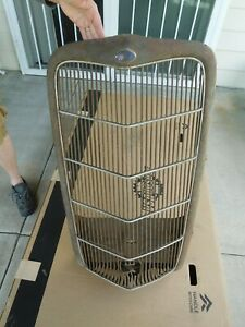 Ford Passenger Car Grill Shell 1935 Original Grille W Apron