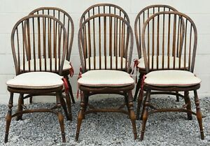 Set Of 6 Windsor Bow Back Windsor Chairs