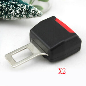 2 Car Safety Seat Belt Buckle Extension Extender Clip Alarm Stopper Universal