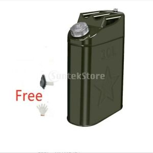 10 Liter Jerry Can Steel Caddy Tank Fuel Oil Gas Gasoline Petrol Diesel Storage