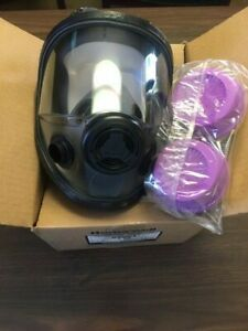 North Honeywell 54001 Full Face Respirator New With Combo Filter Cartridges