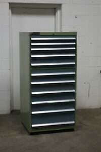 Used Bott Waterloo 11 Drawer Cabinet Industrial Tool Storage 1965 Vidmar