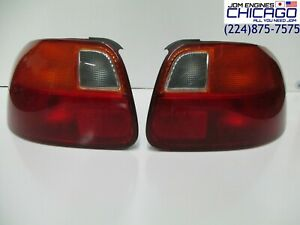 Jdm 92 97 Honda Del Sol cr x Eg2 Tail Lights Rear