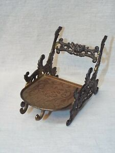 Antique Ornate Fleetwood Brass Metal Tea Cup Saucer Stand Display Holder Easel
