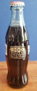 SEALED COCA COLA 100 YRS OF OLYMPIC TRADITION FROM ATHENS TO ATLANTA 8OZ BOTTLE