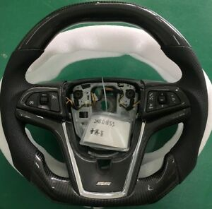 2014 Camaro Zl Ferrari Style Real Carbon Flat Bottom Fiber Racing Steering Wheel