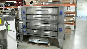 Used Y 600 Bakers Pride Double Deck Pizza Ovens Natural Gas