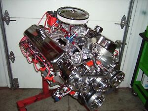 Bbc 454 496 Stroker Chevy Turn Key Engine Alum Heads 615 Hp Chevrolet