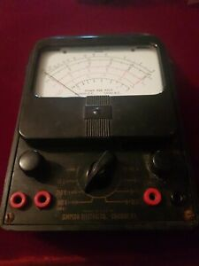 Vintage Simpson Electric Analog Multimeter 1000v 10a 20m Ohms 260 8