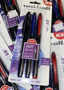 Uni ball Air Rollerball Pen 7 Mm Assorted Ink 3 pack 070530007503 Red Blue