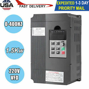 New 1 5kw 220v Variable Frequency Drive Inverter Vfd Single Phase To 2 Phase