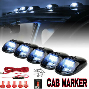 5pcs Smoked Cab Roof Marker 12 led Roof Top Truck Suv Running Driving Light Set