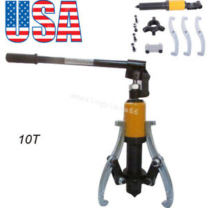 Us 10t Hydraulic Gear bearing wheel Bearing Puller 3 Reversible Jaws Extractor