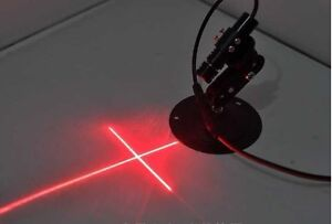 Mitsubishi 660nm 300mw Red Laser Cross Module For Stone wood Cut Locating