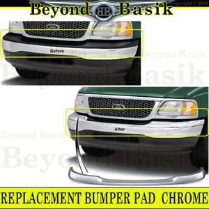 1999 2003 Ford F150 1999 2002 Expedition 04 Heritage Front Bumper Pad Cap Chrome