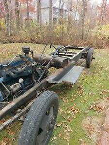 1933 Chevy Truck Chassis Two Engines 1933 Front Fenders And 1933 Doors