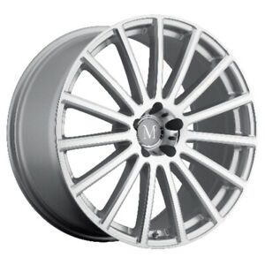 Mandrus Rotec Rims Wheels For Mercedes 17x9 5x112 Silver W Mirror Cut Face Qty4