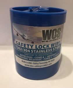 Aircraft Safety Lock Wire Ms20995c32 1 Lb Roll 032 Diameter T302 304 Ss New
