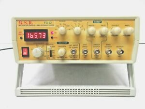 Rsr Fg 32 3mhz Sweep Function Generator 60mhz Auto range Counter Very Good