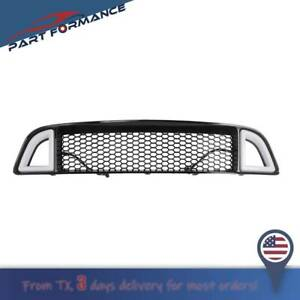 For 2013 2014 Ford Mustang Non Shelby Front Bumper Upper W White Led Grille