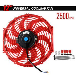 Universal Slim Push Pull Electric Radiator Cooling 12 Inch 12v Fan Mount Kit