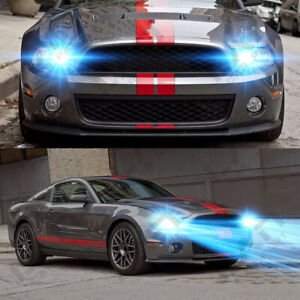 For Ford Mustang Gt 2005 2012 2pc 8000k Led Headlight High low Beam Bulbs Lamp