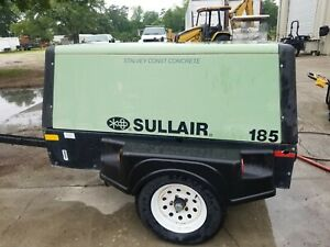 Sullair 185 Towable Air Compressor Cat Engine 1689 Hrs 2008