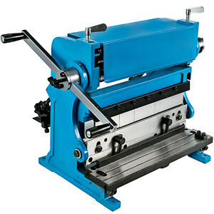 3 in 1 Sheet Metal Shear 12 Metal Brake Folder Slip Roller Machine