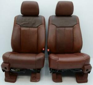 2011 2016 Ford F250 F350 Super Duty Oem Front King Ranch Leather Seats 99 16