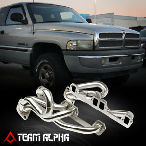 Fits 1992 2004 Ram durango 5 2 5 9 mid length stainless Exhaust Manifold Header