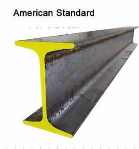 16ft 6in American Standard Steel I beam P18184 S 8 X 18 4 Lb