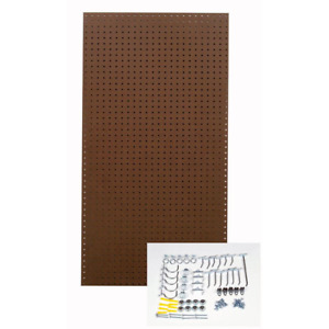 Triton 24 In X 48 In Heavy Duty Brown Pegboard Wall Organizer Kit W 36 Hooks