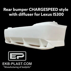 Rear Bumper Diffuser Chargespeed Style For Lexus Is200 Is300 Altezza Sxe10