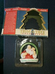 Coca Cola Trim A Tree Collection Away With A Tired Thirsty Face Tree Ornament