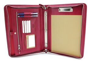 Leather Clipboard A4 Professional Folio Leather 3 Ring Binder