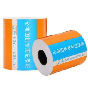 10roll Thermal Paper For Ekg Electrocardiograph 100g Print Paper 50mm 20m