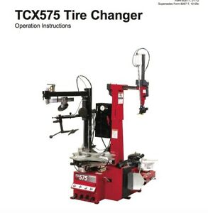 Hunter Tcx575 Series Tire Changer Operating Instructions Manual On Cd Rom