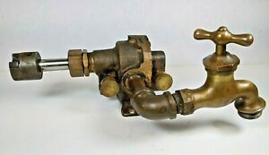 Brass Oberdorfer 55 Pump Dual Grease Oiler Hit Miss Gas Engine Vintage Antique